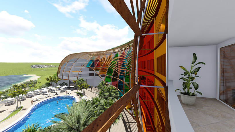 Diseño Arquitectónico y Paramétrico - Hotel Winds 5 Estrellas 9