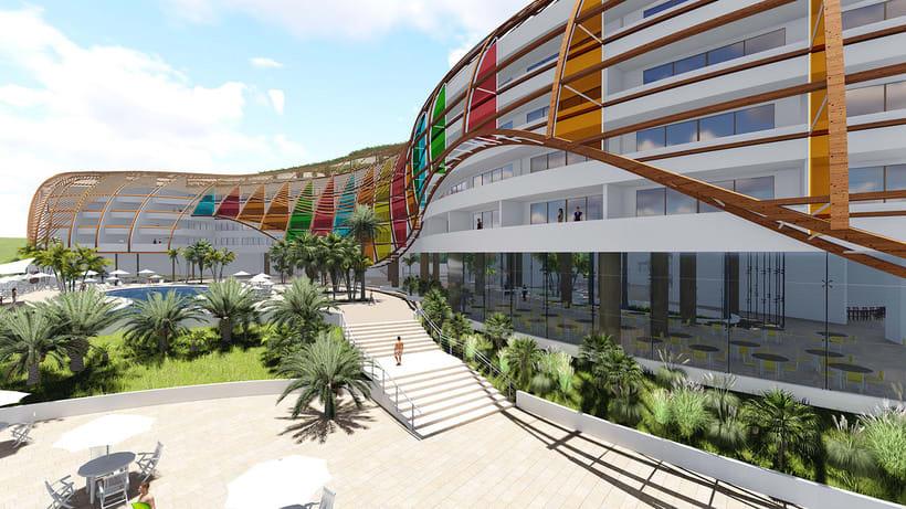 Diseño Arquitectónico y Paramétrico - Hotel Winds 5 Estrellas 10