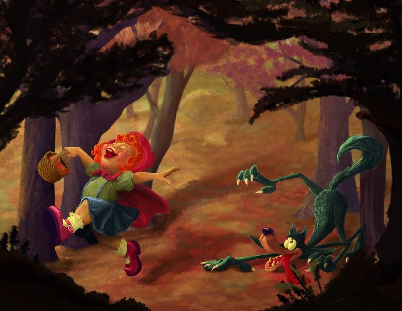 Ilustración de personajes de cuentos de hadas y mitología. 0
