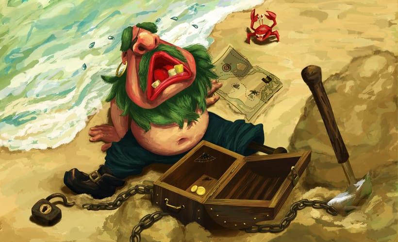 Ilustración de personajes de cuentos de hadas y mitología. 1