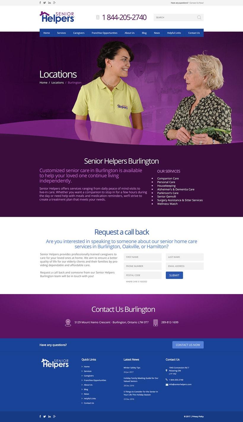Senior Helpers. Diseño UI, Dirección de Arte 3