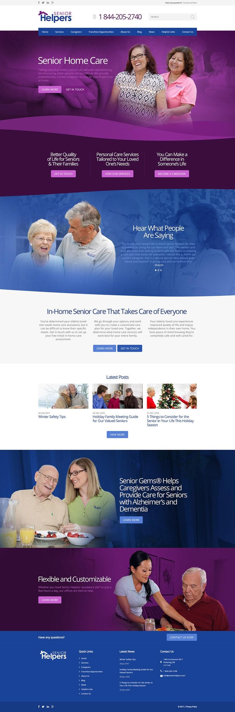 Senior Helpers. Diseño UI, Dirección de Arte 0