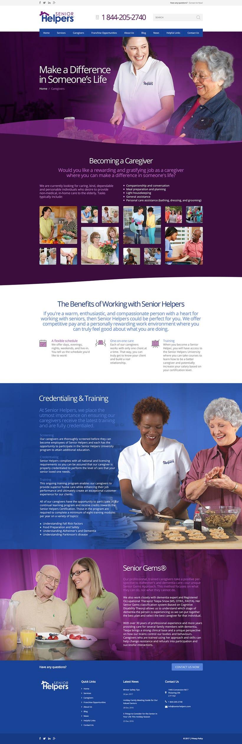 Senior Helpers. Diseño UI, Dirección de Arte 1