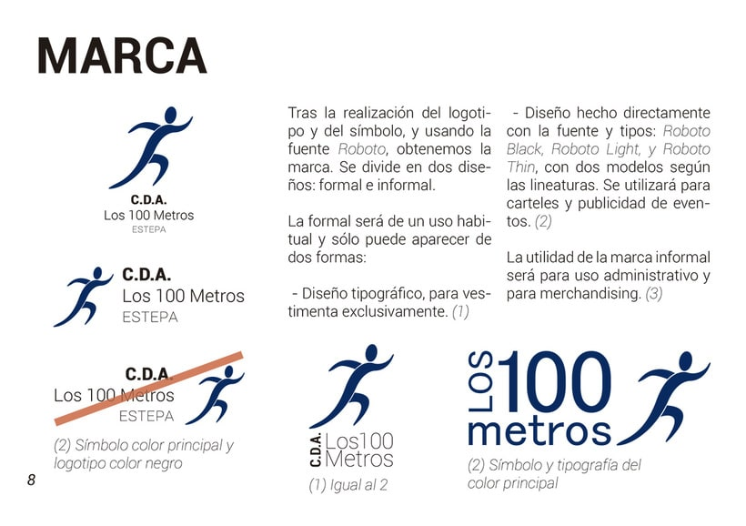 Manual de identidad corporativa C.D.A. Los 100 Metros 2