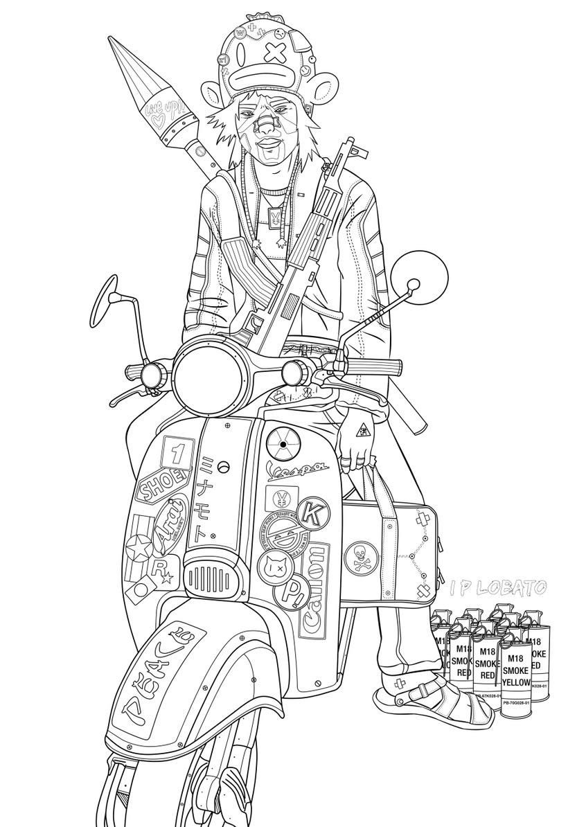 Live up!!  (Burūman series) · Illustration + Line art 1