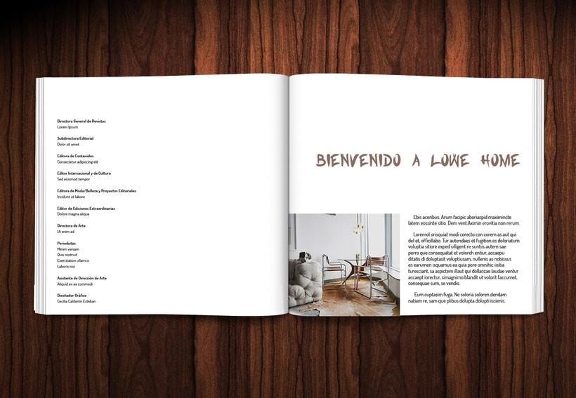 Diseño revista LOWE HOME 2