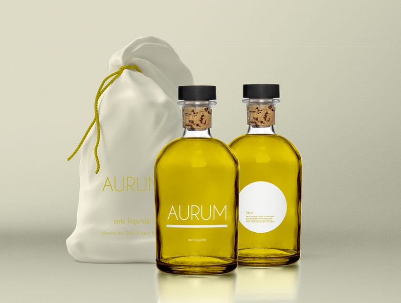 Diseño packaging aceite AURUM 0