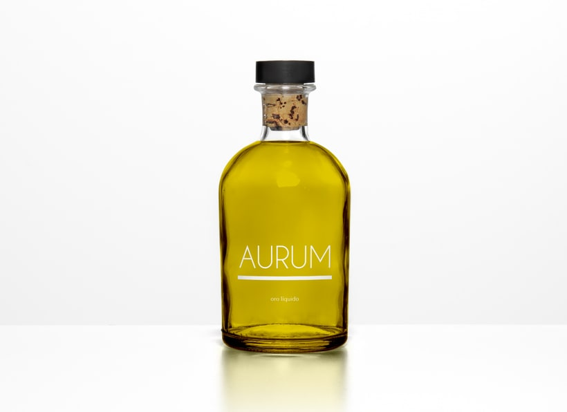 Diseño packaging aceite AURUM 1