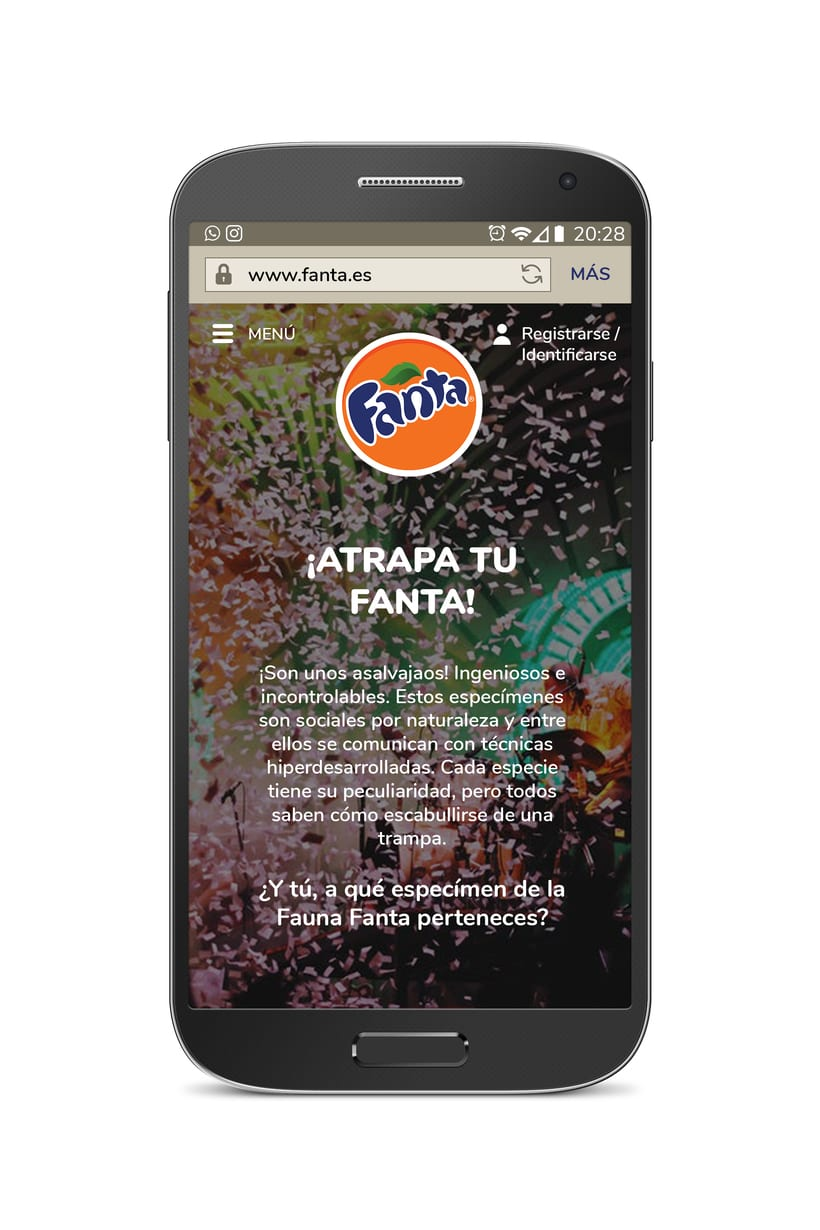Diseño web móvil FANTA 0
