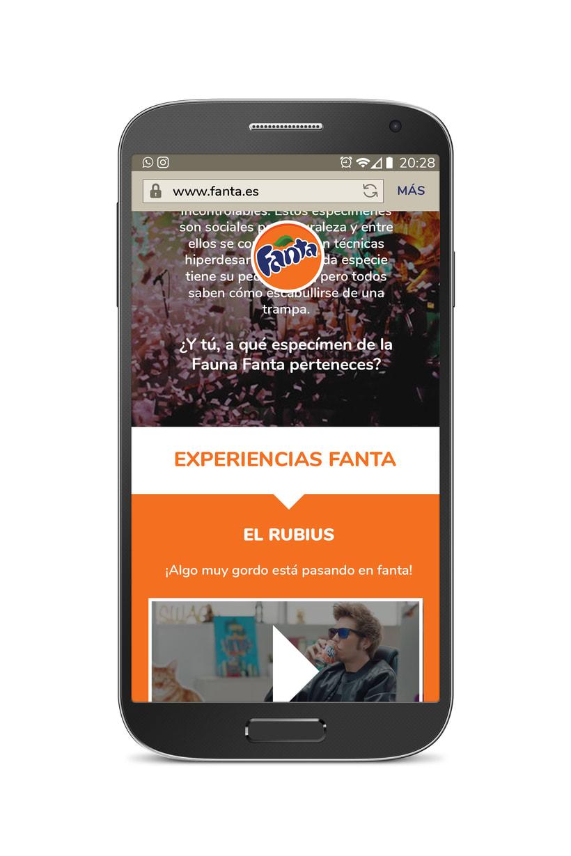 Diseño web móvil FANTA 1