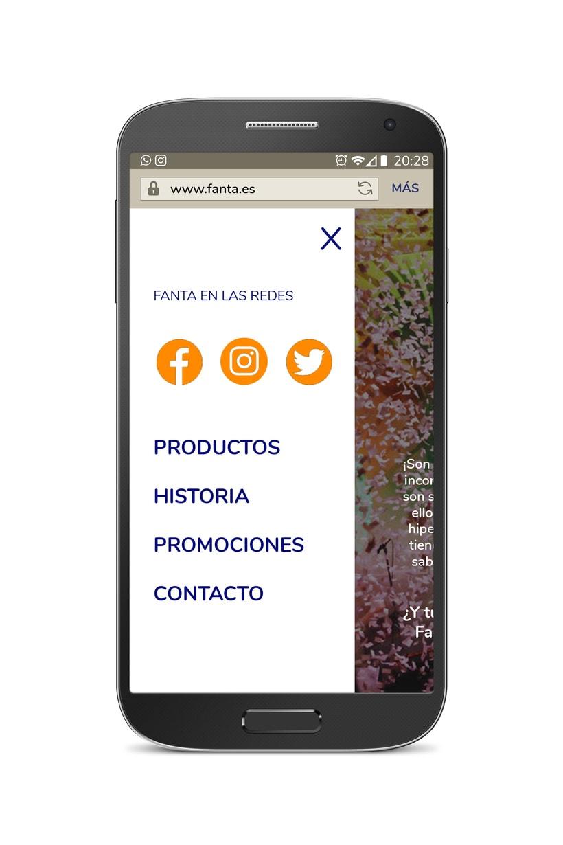Diseño web móvil FANTA 3