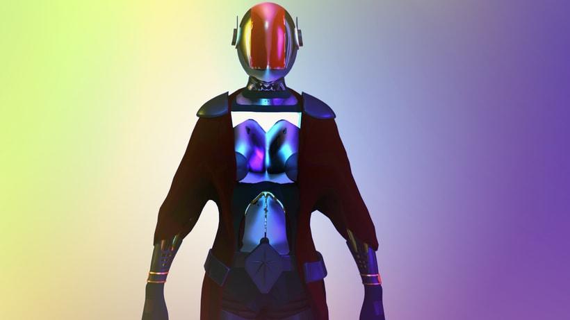 Modelado Cyberwoman 0