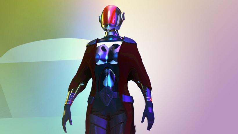 Modelado Cyberwoman 4