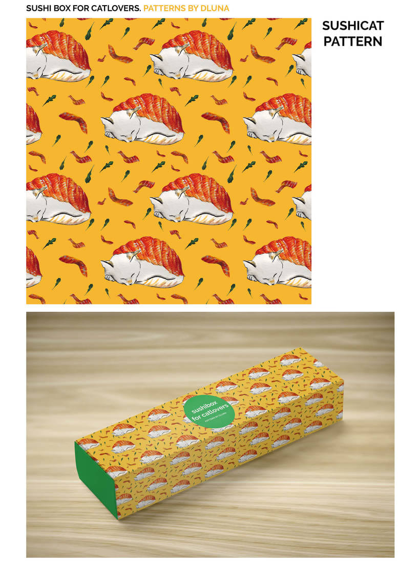 SUSHI BOX FOR CATLOVERS. PATTERNS BY DLUNA 1