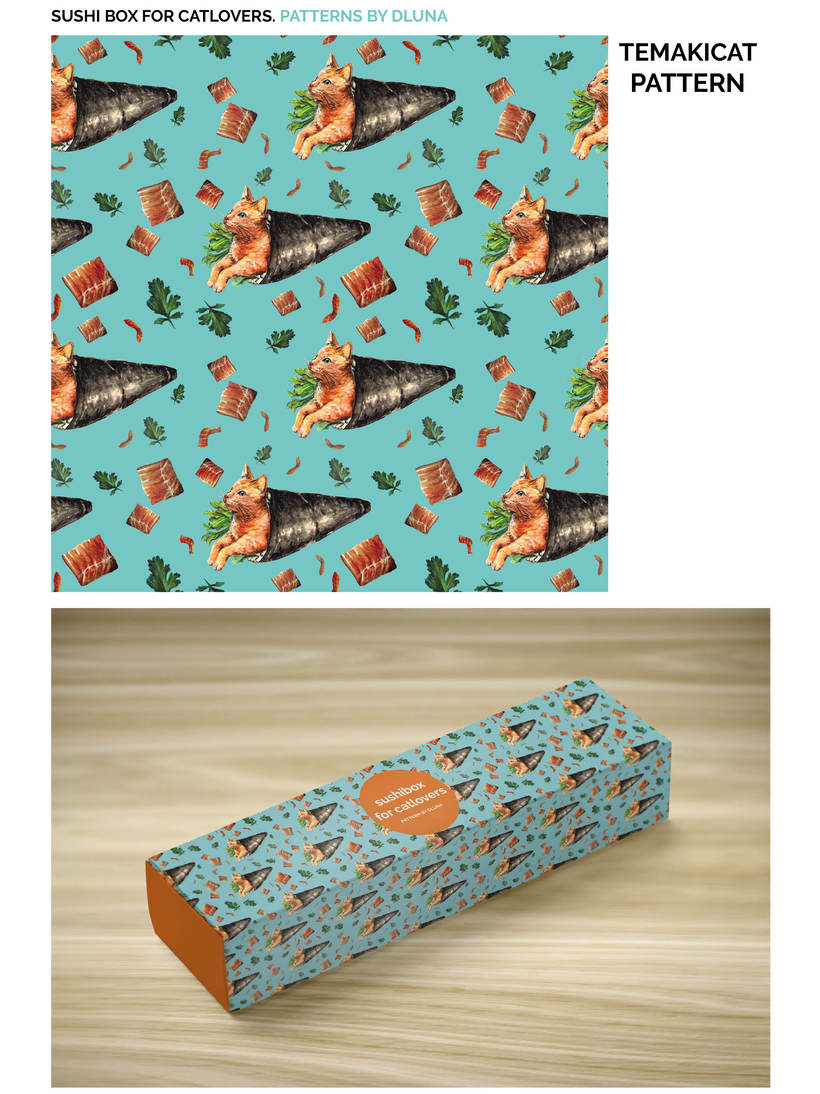 SUSHI BOX FOR CATLOVERS. PATTERNS BY DLUNA 2
