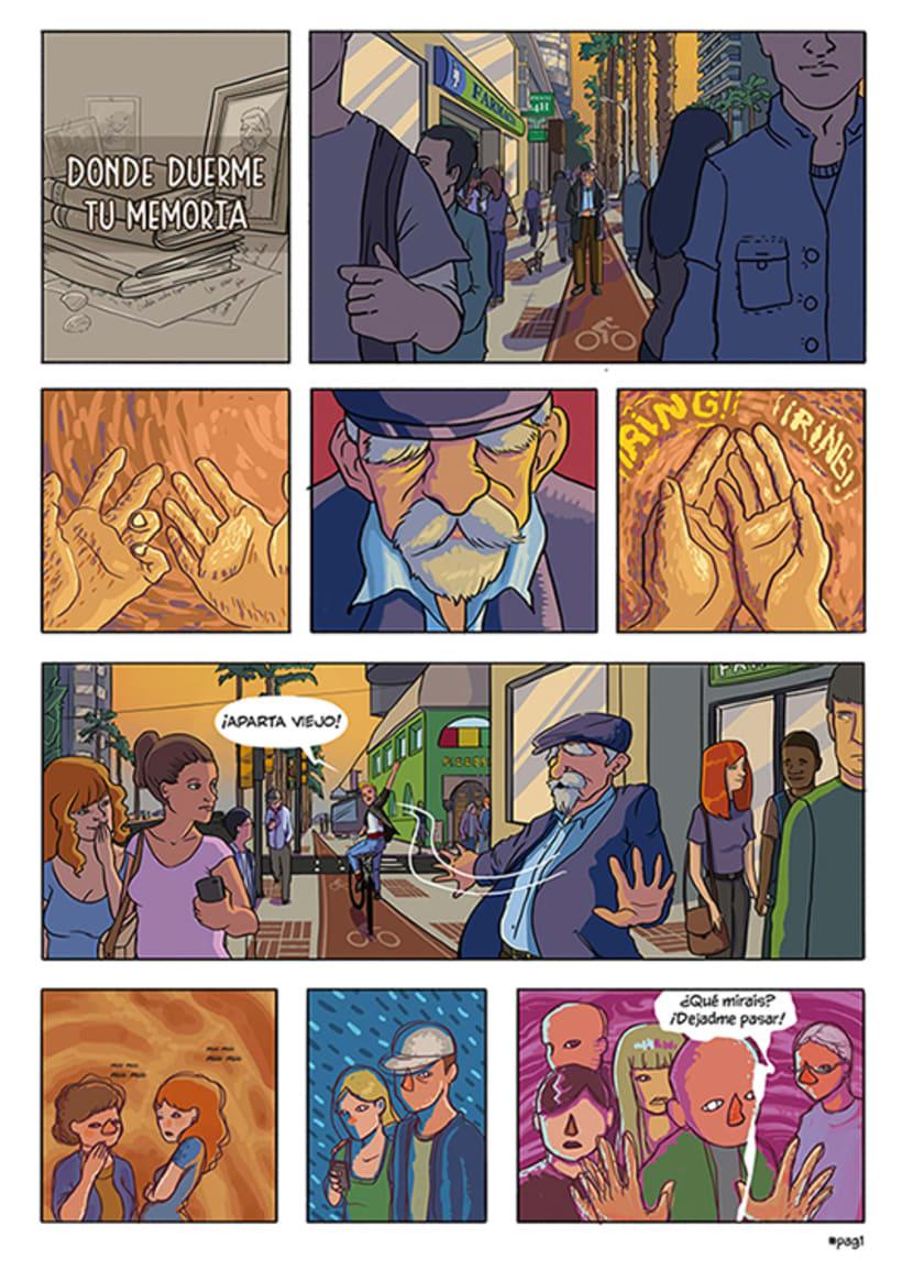 Mi Proyecto del curso: El cómic es otra historia - Donde duerme tu memoria 0