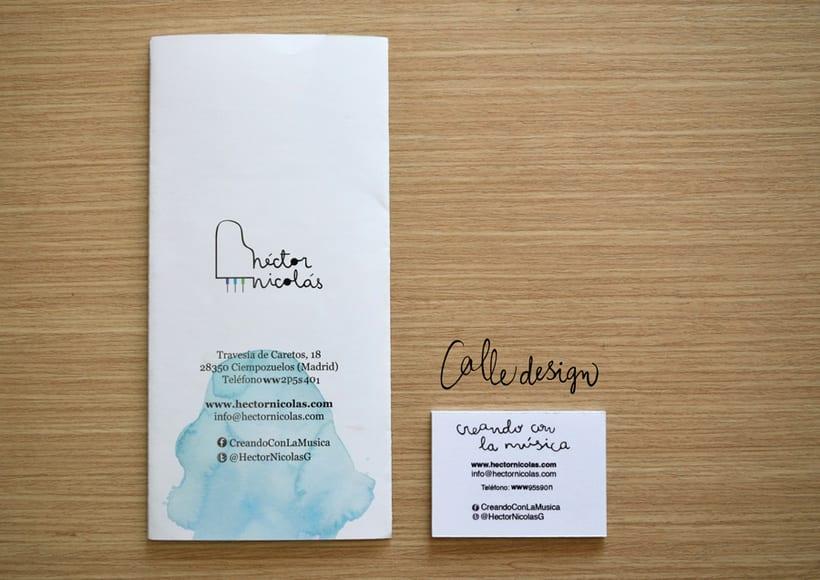Logo y folleto. Estudio de música 0