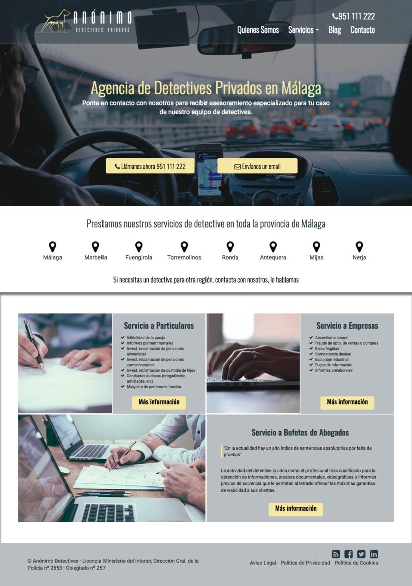 Diseño web · Anónimo Detectives -1