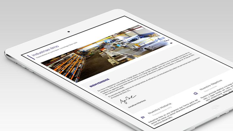 Industrias Ilmo - Diseño Web 0