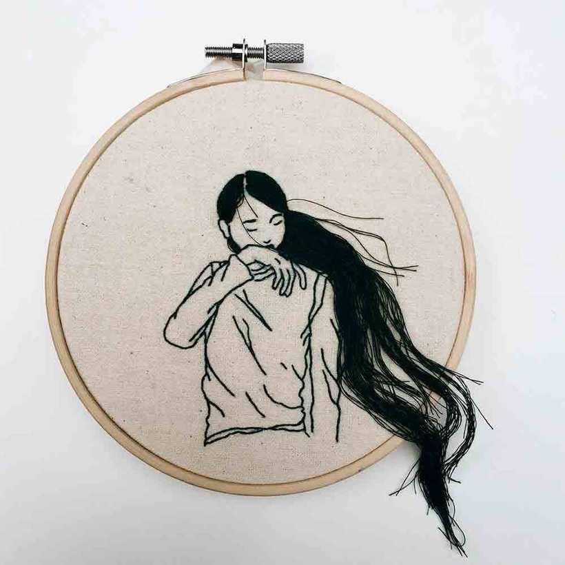 Sheena Liam y los bordados que se pueden peinar 1