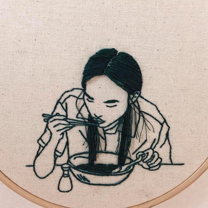 Sheena Liam y los bordados que se pueden peinar 5