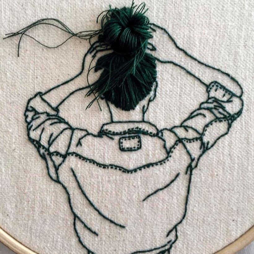 Sheena Liam y los bordados que se pueden peinar 6
