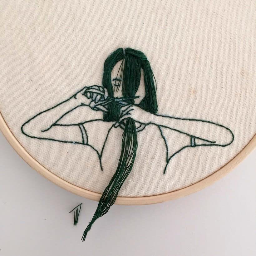 Sheena Liam y los bordados que se pueden peinar 10