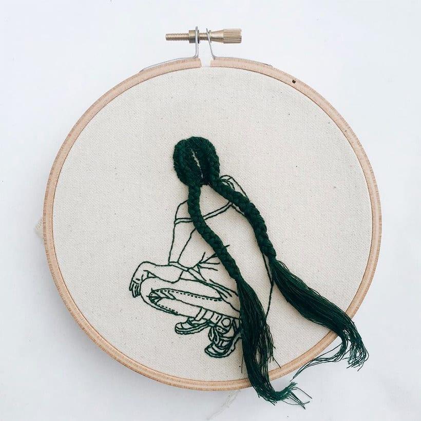 Sheena Liam y los bordados que se pueden peinar 11
