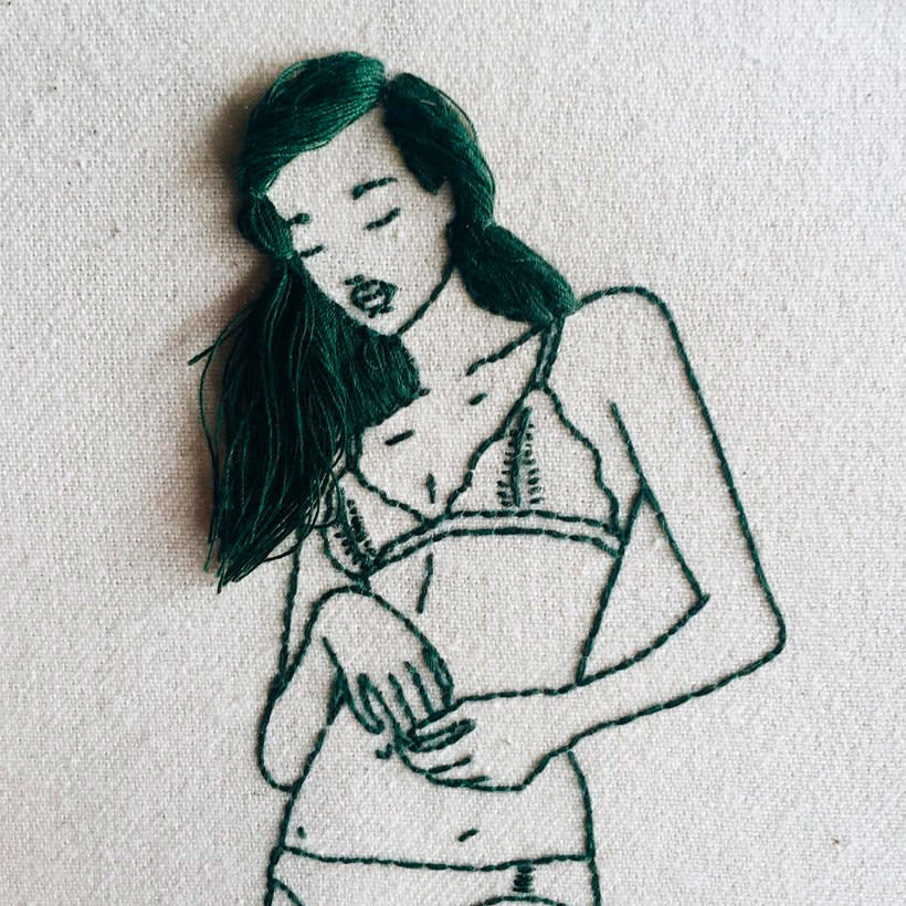Sheena Liam y los bordados que se pueden peinar 16
