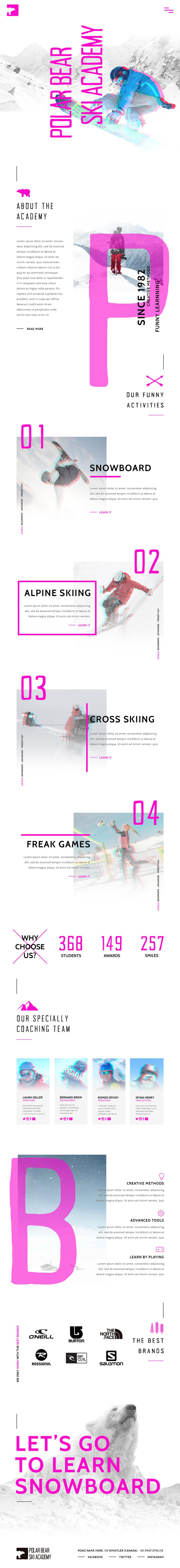 Ski Academy Web Design Concept 0