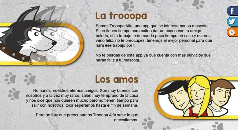 Diseño de App / Trooopa Alfa 3