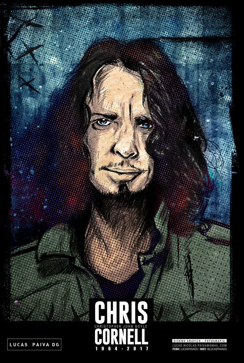 Ilustración en homenaje a Chris Cornell -2017- -1