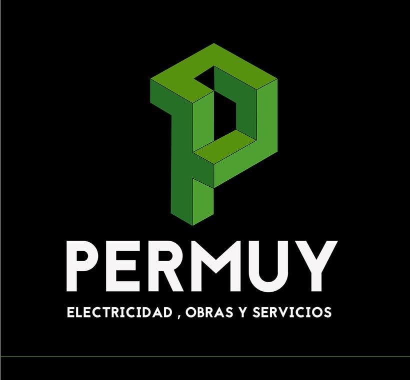 Diseño de Logo y tarjetas para la empresa Permuy (electricidad, obras y servicios) 0