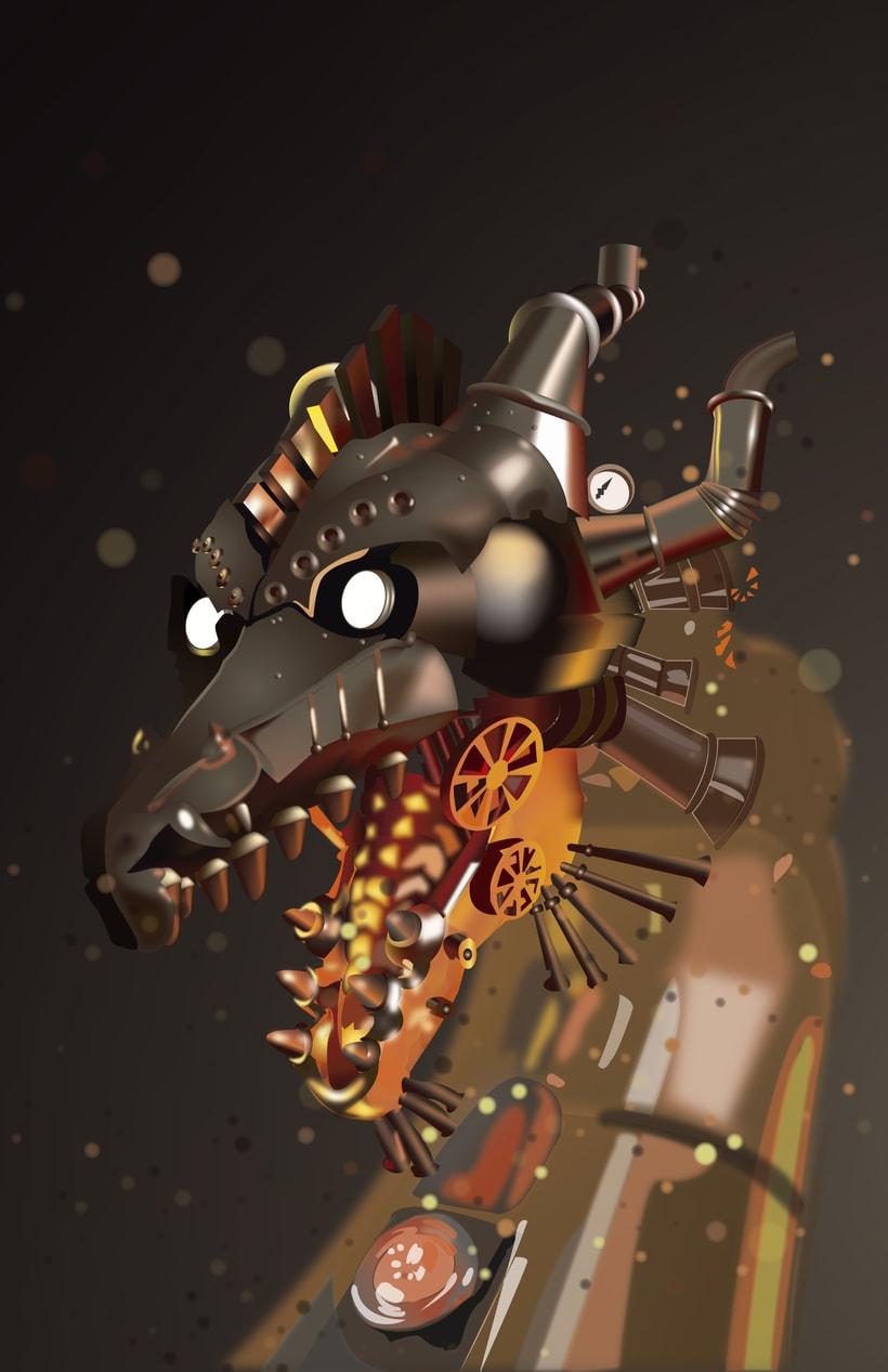 Dragon Steampunk -  Vector -1
