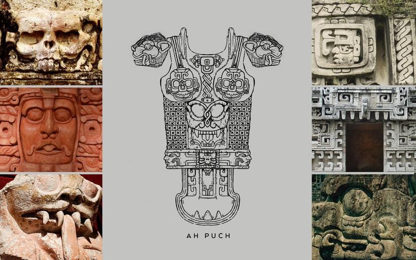 Esculturas mayas hotel UNICO 20º87º 5