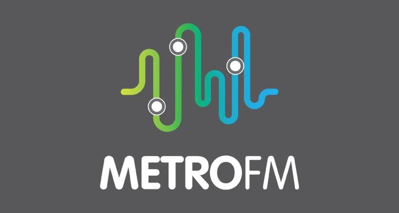 Diseño logotipo METRO FM 1