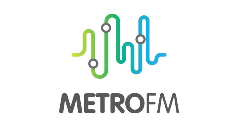 Diseño logotipo METRO FM 0