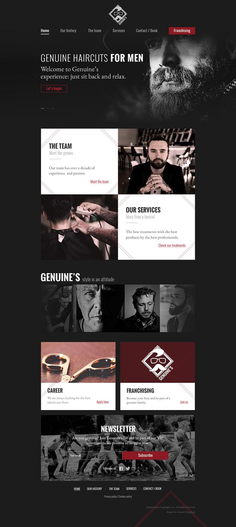 Diseño Landing page para barbería 0