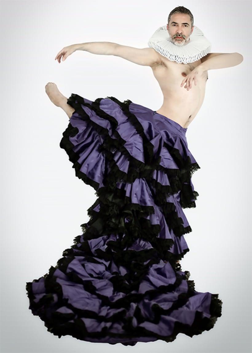 BUSCANDO CERVANTES, fusión de flamenco, danza contemporánea y teatro 0