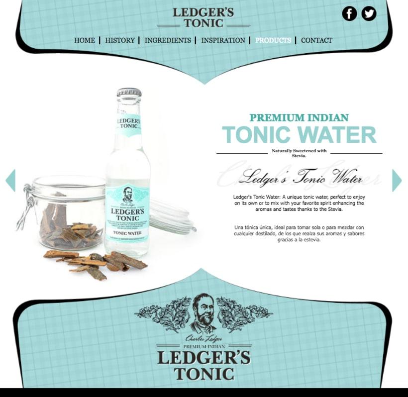Web | Piezas Off/On para la marca de tónica premium 'Ledger' 5