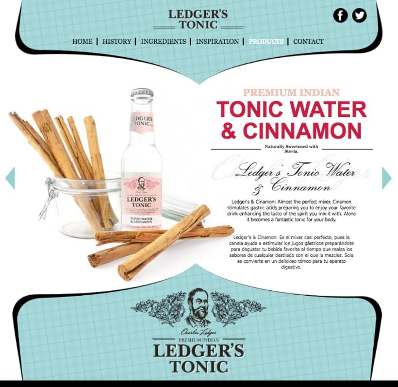 Web | Piezas Off/On para la marca de tónica premium 'Ledger' 6