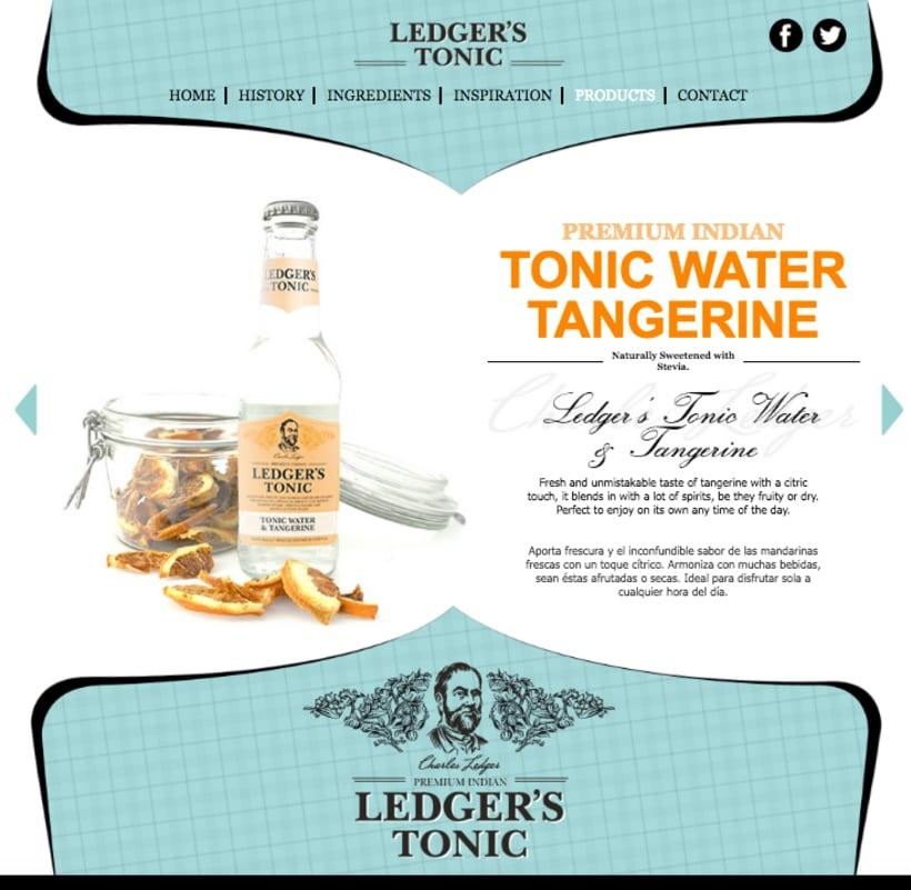 Web | Piezas Off/On para la marca de tónica premium 'Ledger' 7