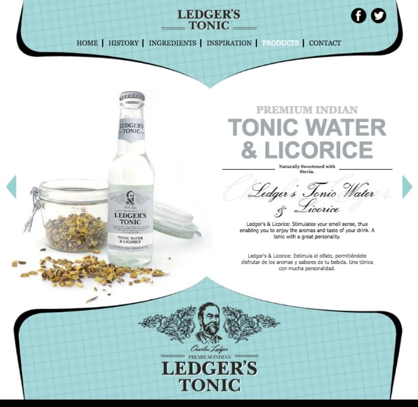 Web | Piezas Off/On para la marca de tónica premium 'Ledger' 8