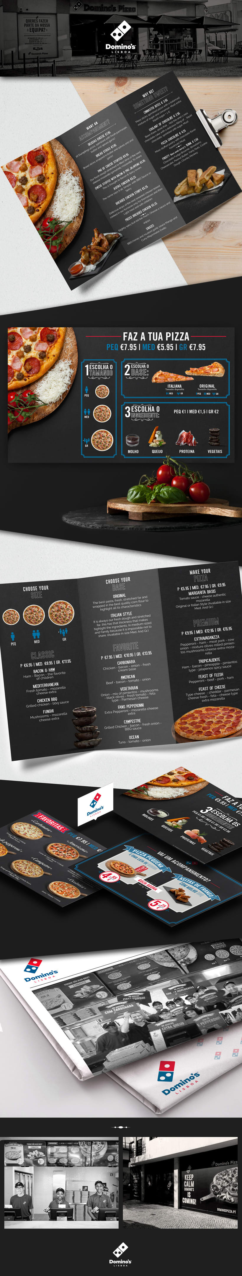 Domino's Pizza Menu Board -1