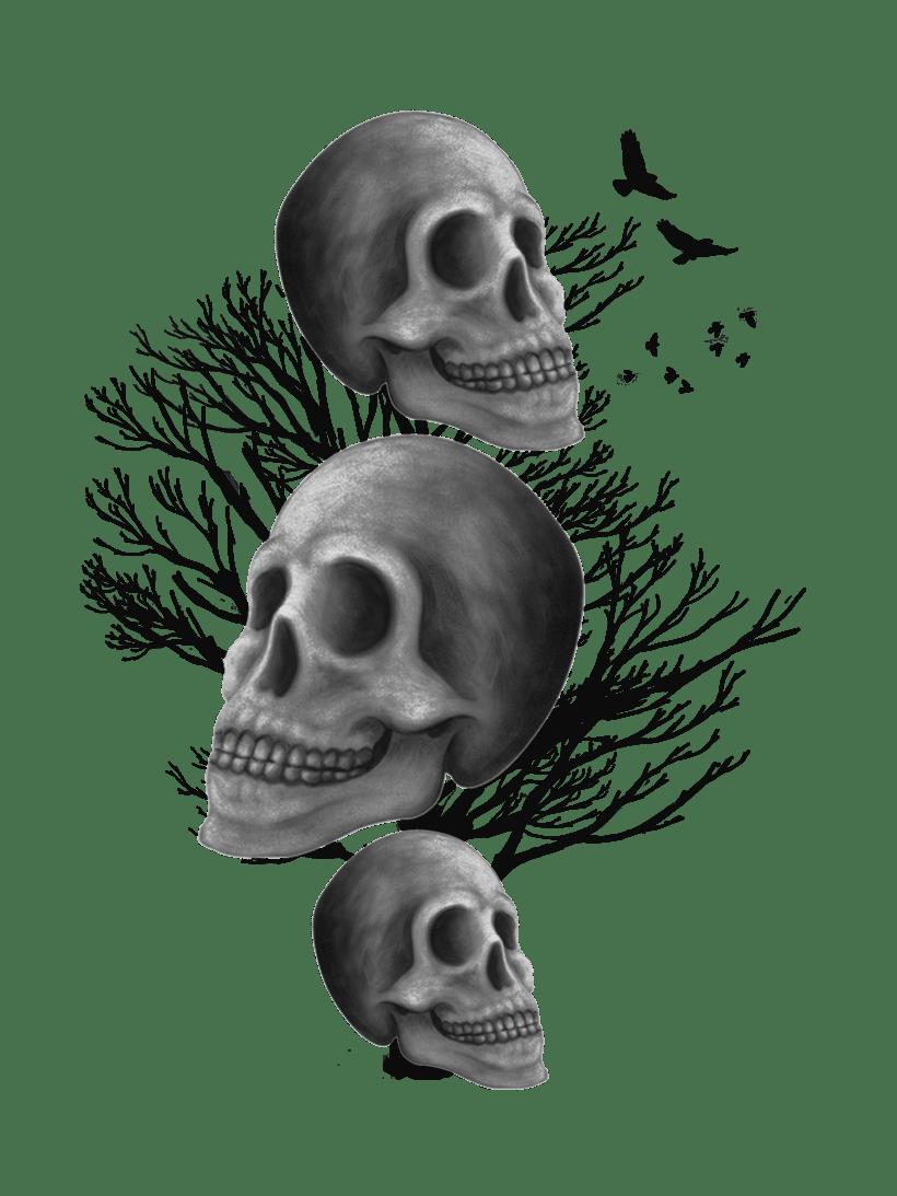 Ilustración DarkSkull para camisetas 3
