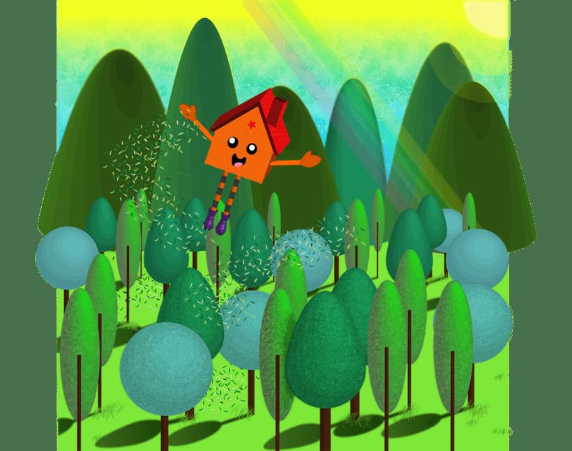 El día en que la casita del bosque decidió ir a viajar 1
