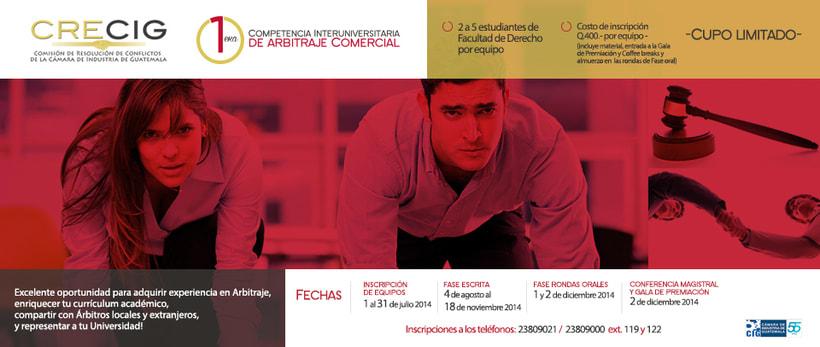 Branding -  1er competencia interuniversitaria de arbitraje comercial <Guatemala 2014> 1