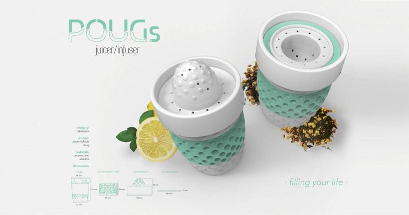 POUGs -ceramic mug/juicer/infuser- <Rome 2015> 2