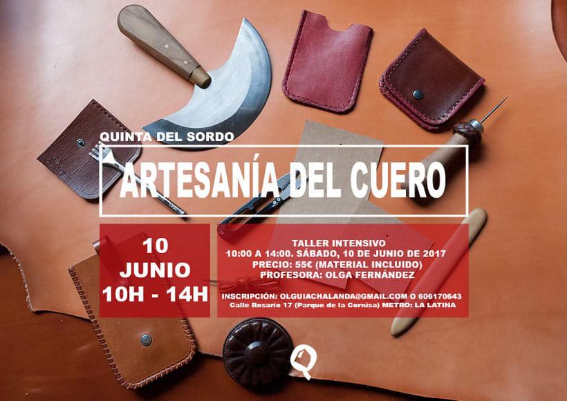 Taller de iniciación a la artesanía del cuero en Madrid 1