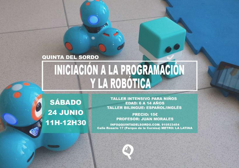 Taller de iniciación a la programación y la robótica en Madrid 1